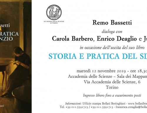 """Presentazione del libro """"STORIA E PRATICA DEL SILENZIO"""" di Remo Bassetti"""